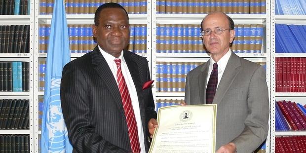 アフリカで最初の、世界で4番目の批准国となったナイジェリア(C) UN Treaty Collection