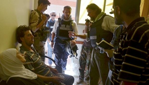国連の化学兵器の専門家ダマスカス郊外を視察 © REUTERS/Bassam Khabieh
