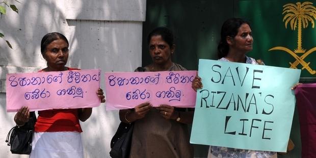 The Sri Lankan government had urged Saudi Arabia's King to show clemency in Rizana Nafeek's case.(C) Ishara S.KODIKARA/AFP/Getty Images