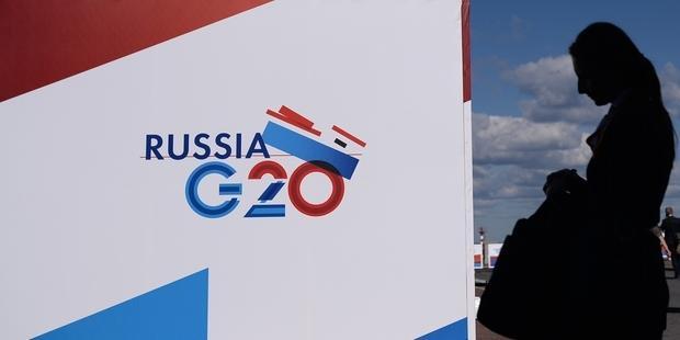 ロシアのサンクトペテルブルクで5日、主要20カ国・地域(G20)首脳会議が開幕  © DIMITAR DILKOFF/AFP/Getty Images
