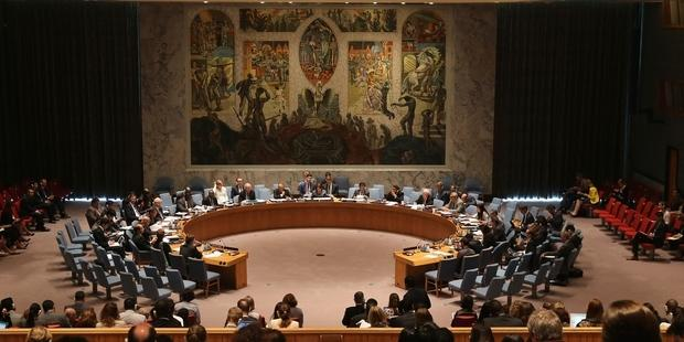 The UN Security Council is due to vote on a resolution on the use of chemical weapons in Syria. (C) John Moore/Getty Images