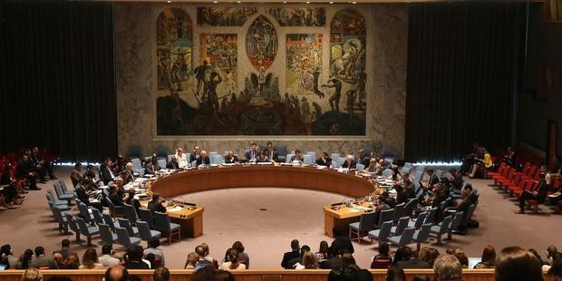 シリアに化学兵器を廃棄させる決議を採択する国連安全保障理事会 (C) John Moore/Getty Images