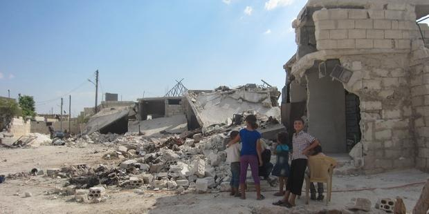 Civilian homes in Killi (Idlib province) destroyed by indiscriminate attacks.