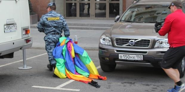 Moscow police detained dozens of people during an attempted Pride event outside the mayor's office